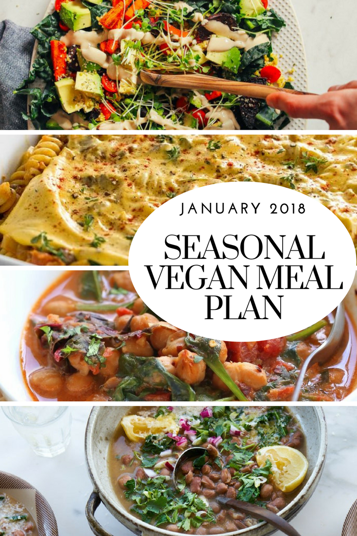 Vegan Meal Plan For January 7 Vegan Meal Plans Vegan Menu Plans Vegan Recipes