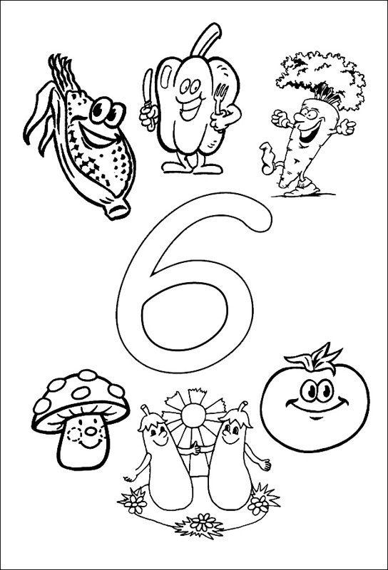 6 Sayisi Rakami Boyama Sayfalari Boyama Sayfalari Okul Oncesi