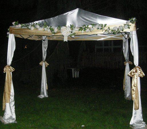 Diy chuppah mandap wedding canopy wedding canopy for Build your own canopy frame