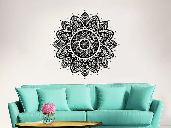 Mandala Wall Decal Yoga Studio Vinyl Aufkleber von IncredibleDecals