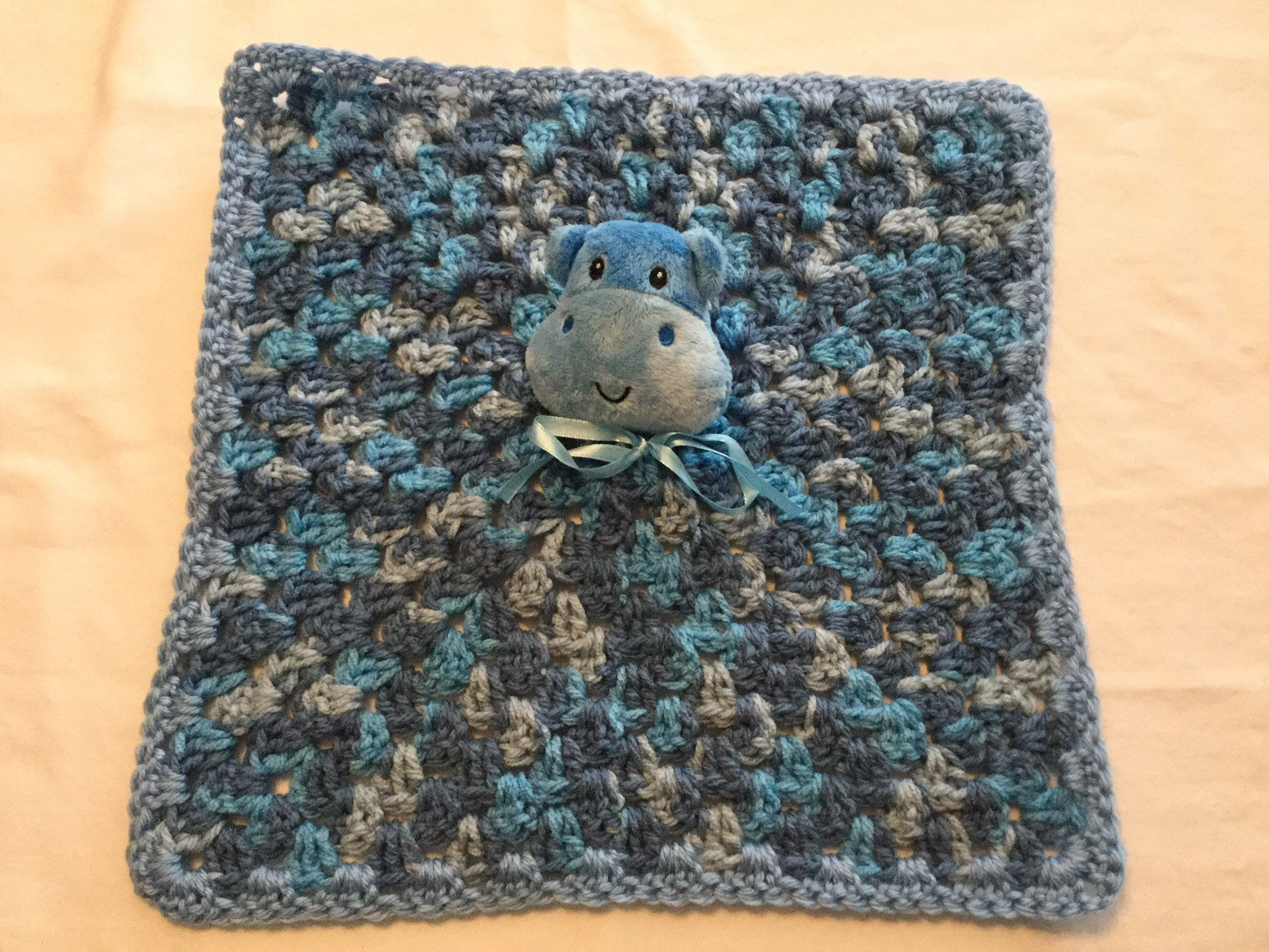 Hippo, Crochet, Security Blanket Lovely, Handmade, for Baby, Shower Gift, Baby Gift #crochetsecurityblanket Excited to share this item from my #etsy shop: Hippo, Crochet, Security Blanket Lovely, Handmade, for Baby, Shower Gift, Baby Gift #crochetsecurityblanket