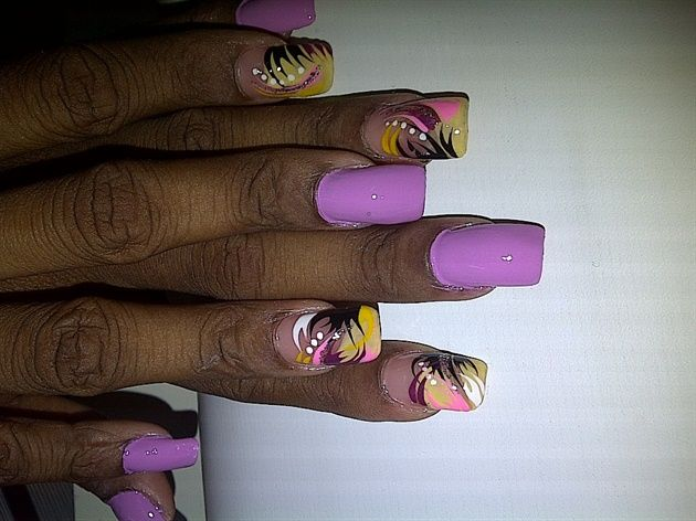 candy lilac by Kaceim - Nail Art Gallery nailartgallery.nailsmag.com by Nails Magazine www.nailsmag.com #nailart