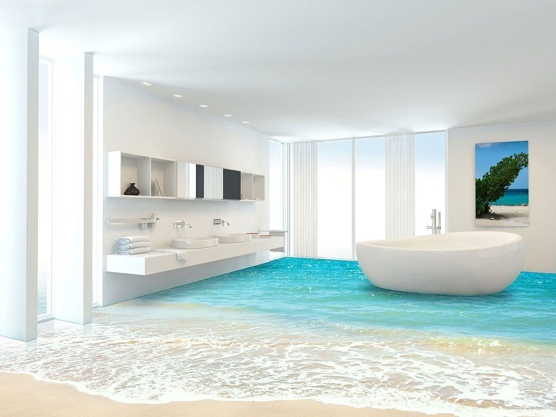 Badezimmer 3D Boden 15 Luxxfloor 3D Böden Podele