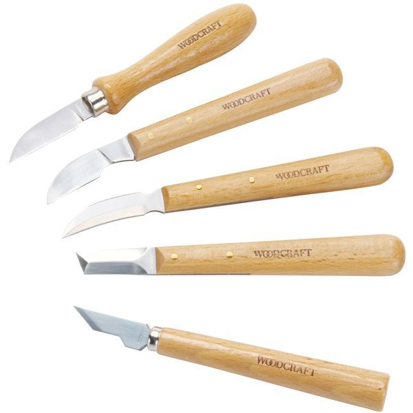 Making A Carving Knife: Set Of 5 Chip Carving Knives - F,G,H,I