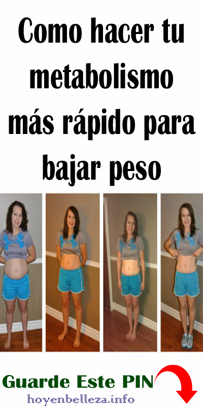 Que ayuda a bajar de peso mas rapido