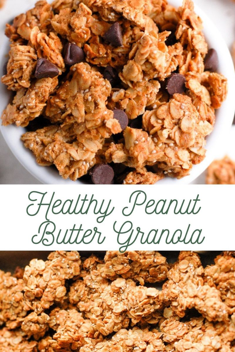 Healthy peanut butter granola recipe granola healthy