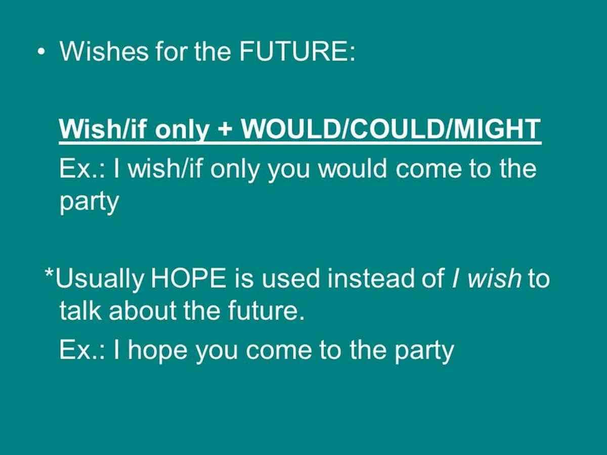 How To Express Wishes In The Past Present And Future