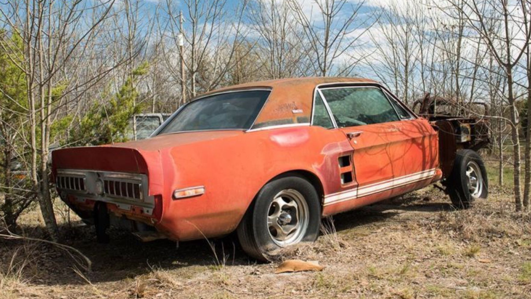Pin by Tim on Crashed - abandoned old cars | Mustang ...