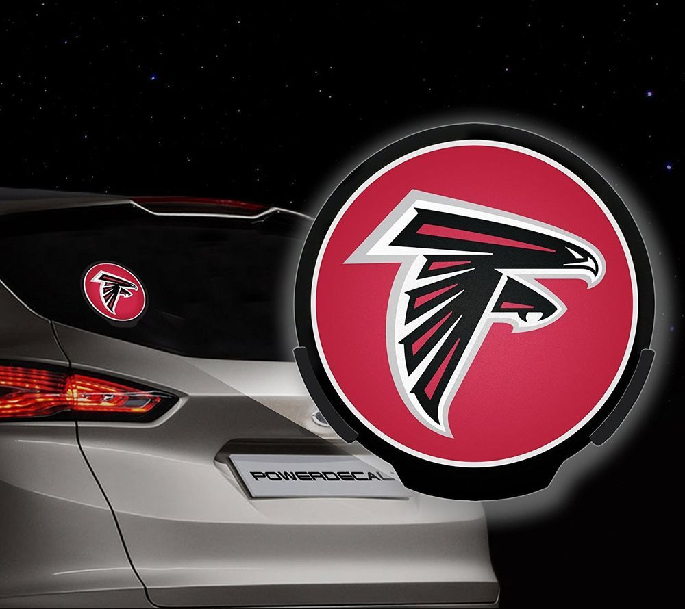 Atlanta Falcons Nfl Football Team Logo Motion Sensor Led Lighting Car Decal Atlantafalcons Atlanta Falcons Logo Atlanta Falcons Atlanta Falcons Pictures