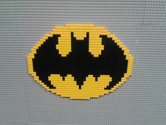 Batman logo. On a lego wall in work! | Creatif