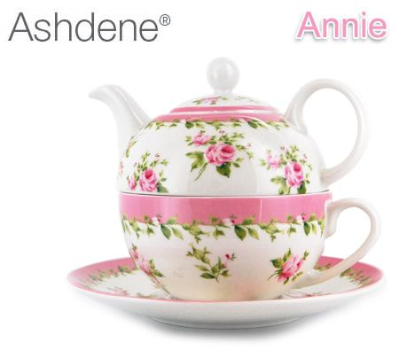 Ashdene Tea For One 4 Piece Set Teapot Cup And Saucer Annie