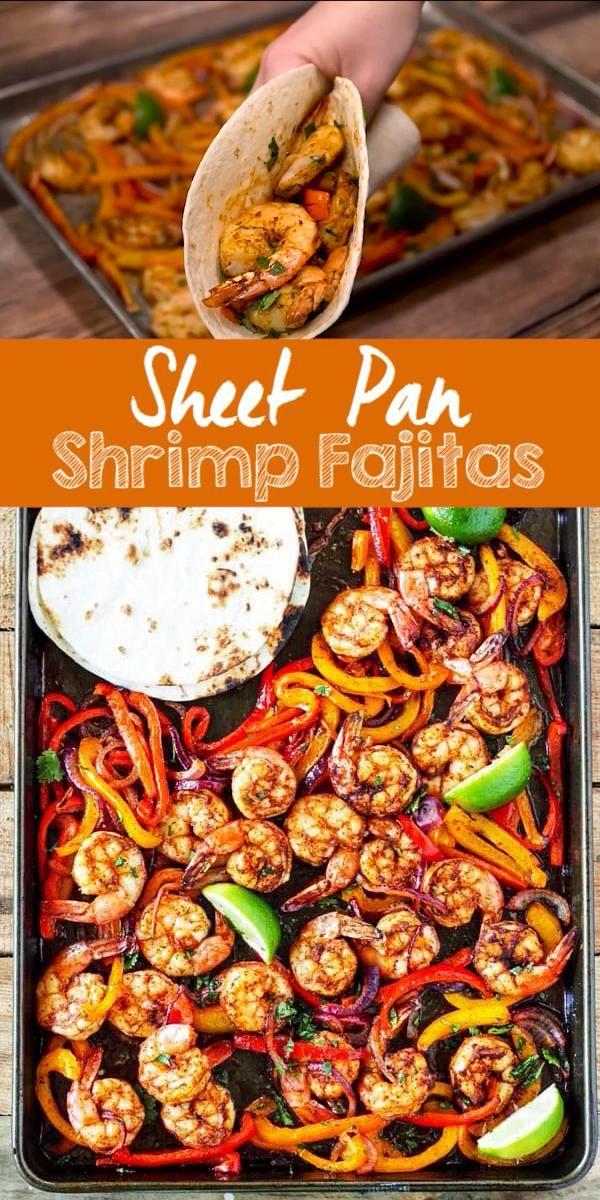 Photo of Sheet Pan Shrimp Fajitas