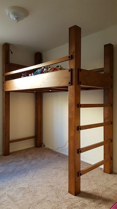 Twin Xl Loft Bed Loft Bed Plans Diy Loft Bed Kids Loft Beds