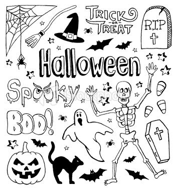 A Halloween Themed Doodle Page Bullet Journal Halloween Halloween Doodle Doodle Pages
