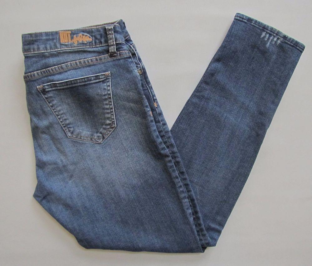 "Kut From The Kloth Jeans 8 Katy Boyfriend Straight Medium Distressed Denim 28"" #KUTfromtheKloth #Boyfriend"