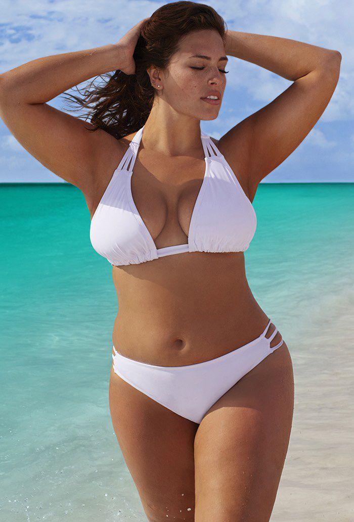 2873e6ee9e49d Beach Babe White Triangle Triple String Bikini