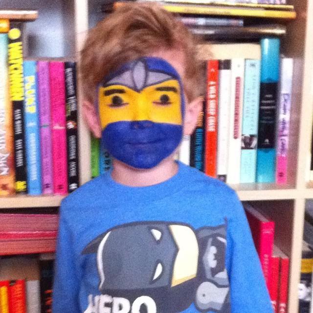 Ausmalbilder Ninjago Gesicht: Children's Face Painting Lego Ninjago Face