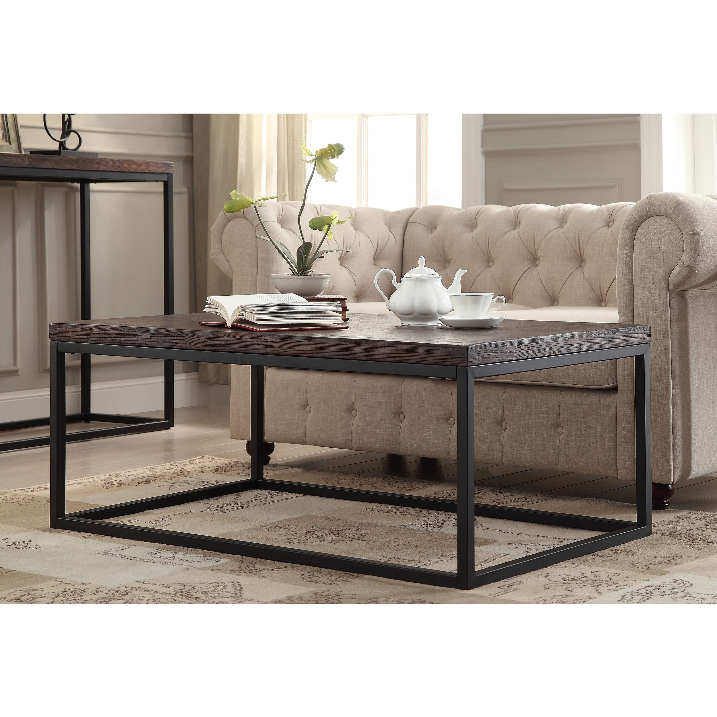 Somette Pecan Cocktail Table Overstock Shopping Great Deals on