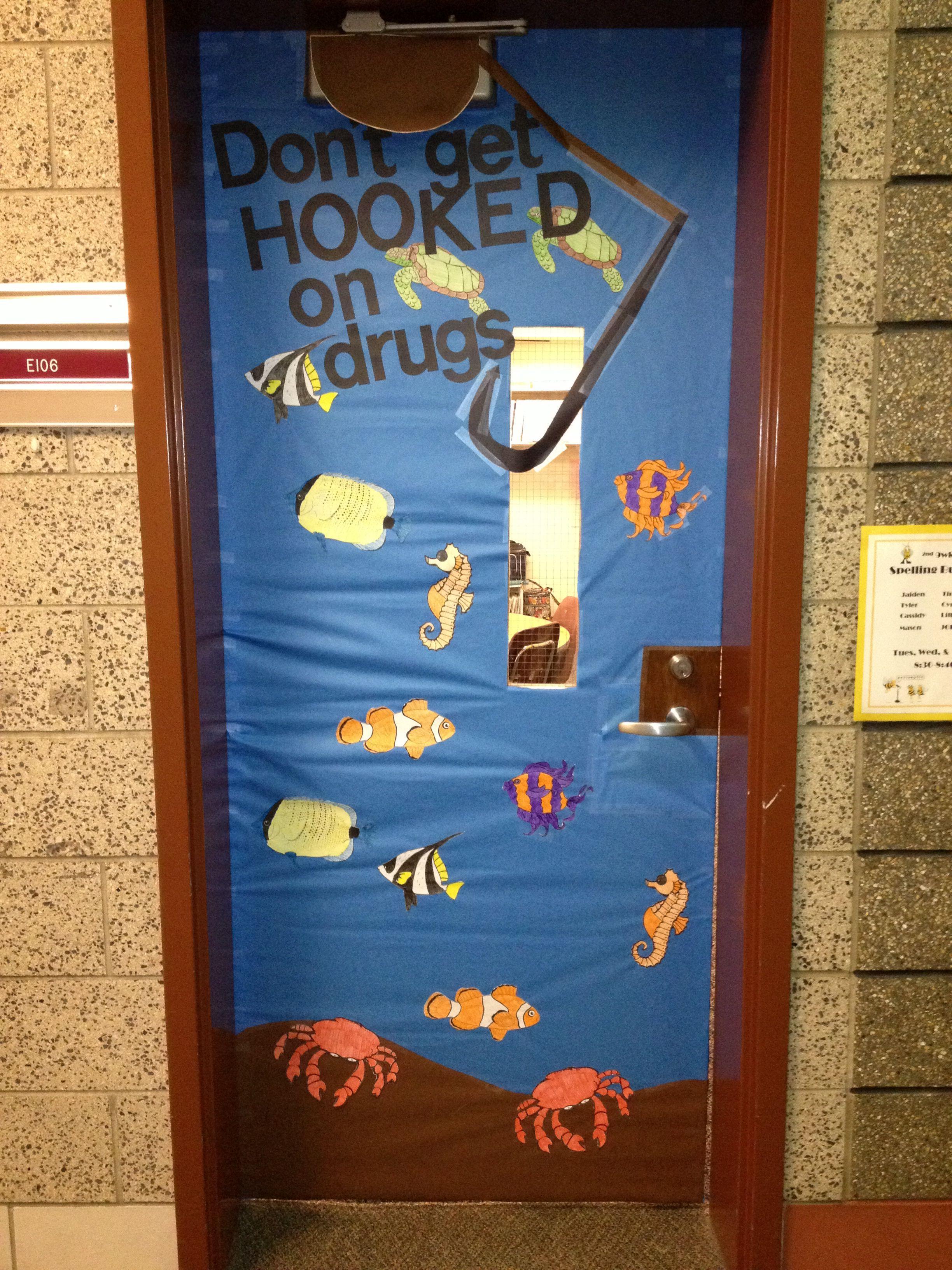Drug Awareness Week Door Decorating Contest School Door