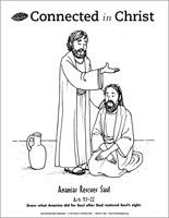 ananias and saul coloring pages | DAY 5 STORY-Ananias Restores Saul (Downloadable ...