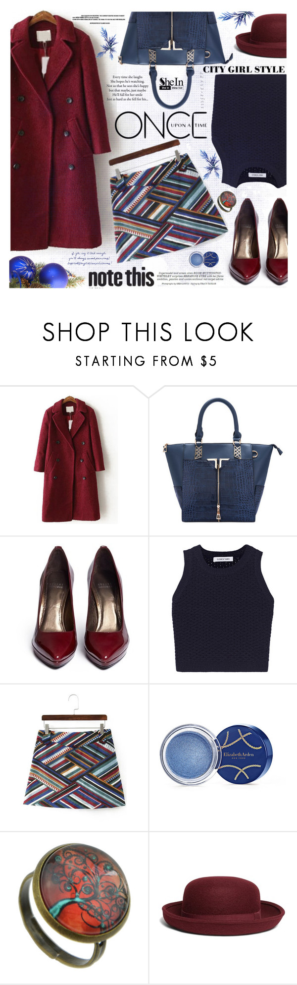 """City girl style"" by katjuncica ❤ liked on Polyvore featuring Stuart Weitzman, Elizabeth and James, Elizabeth Arden, Brooks Brothers, Once Upon a Time and Whiteley"