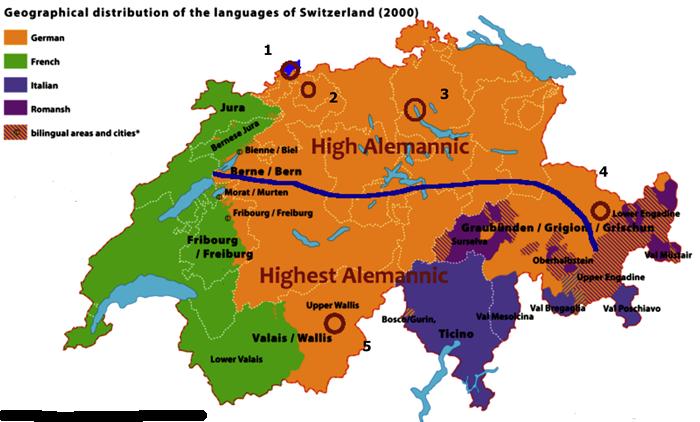 Swiss German Language Yahoo Image Search Results Switzerland - Switzerland language map