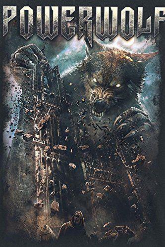 Powerwolf Cathedral T Shirt Schwarz Amazonde Bekleidung