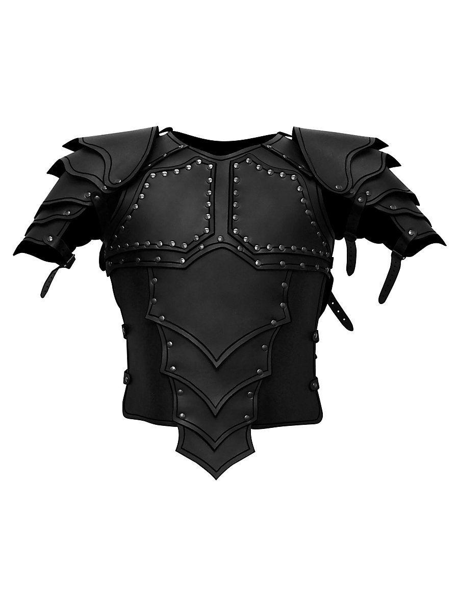Lederrüstung Mit Schultern Drachenreiter Farbe Schwarz Schwarz Lederrüstung Cosplay Rüstung Rüstung