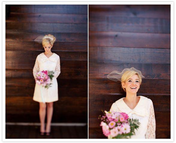 Twiggy Inspired Bridal Look