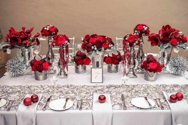 Mariage Rouge Et Argent J Ai Dit Oui Silver Wedding Decorations Red Wedding Decorations Red Silver Wedding