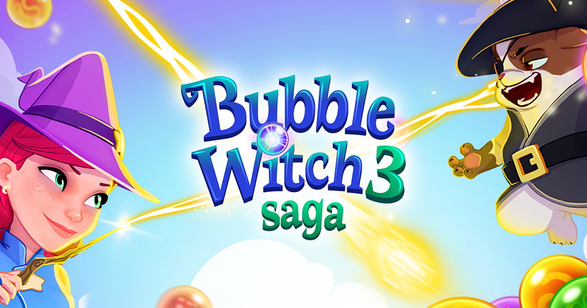 Play Bubble Witch 3 Saga online at Work you