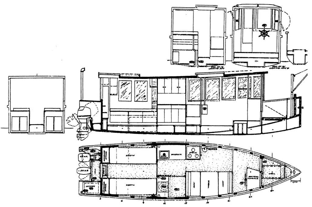 trailerable houseboat plans