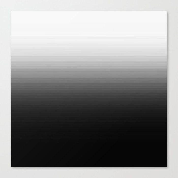Black & White Ombre Gradient Canvas Print by 2sweet4words Designs - MEDIUM