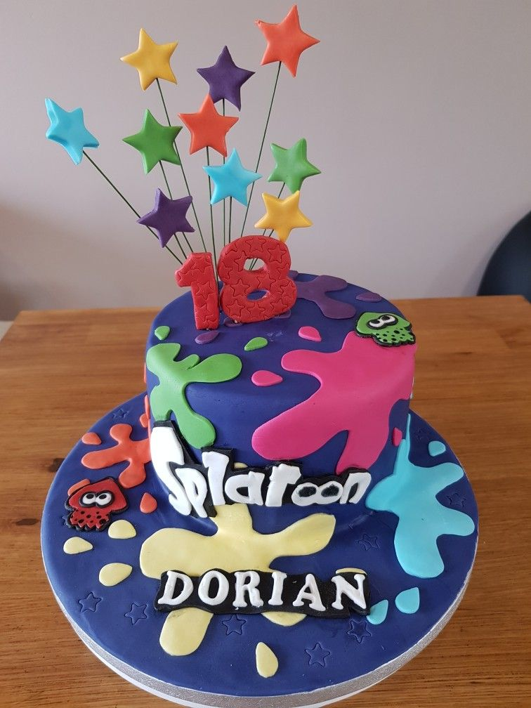 Splatoon Cake Splatoon Cake Cake Birthday 9th Birthday