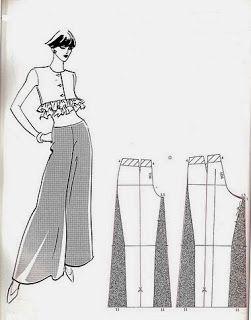 Diy Pantalon Con Tela Fina Patrones De Costura Moldes De Ropa Patrones De Moda