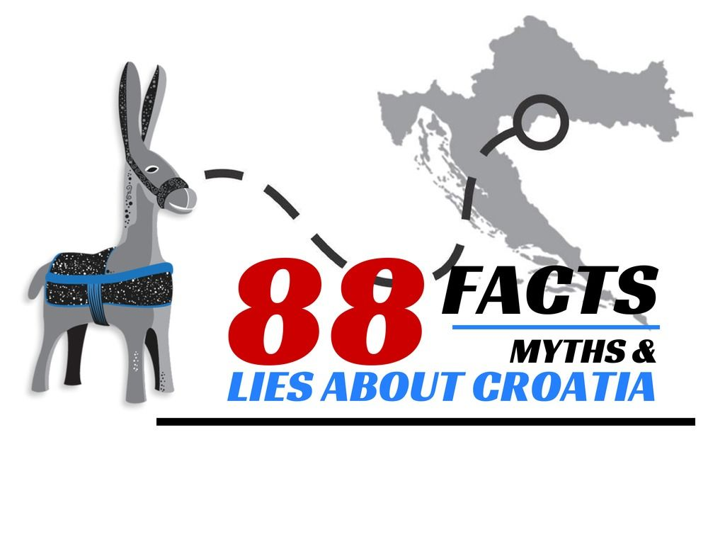 Facts lies and myths about #Croatia - Travel Croatia like a local via Chasing the Donkey