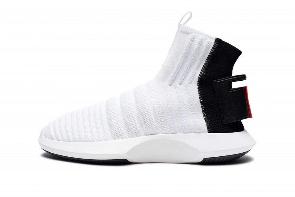on sale 0129d 5866d adidas Gives the Crazy 1 ADV Sock Primeknit a White, Black