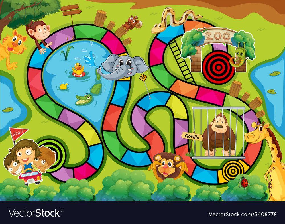 Board Game Vector Image On Vectorstock Board Games Board Game Themes Board Game Template