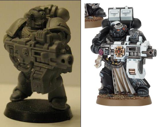 Unpainted Warhammer 40k Space Marine Heavy Metal Heavy Bolter