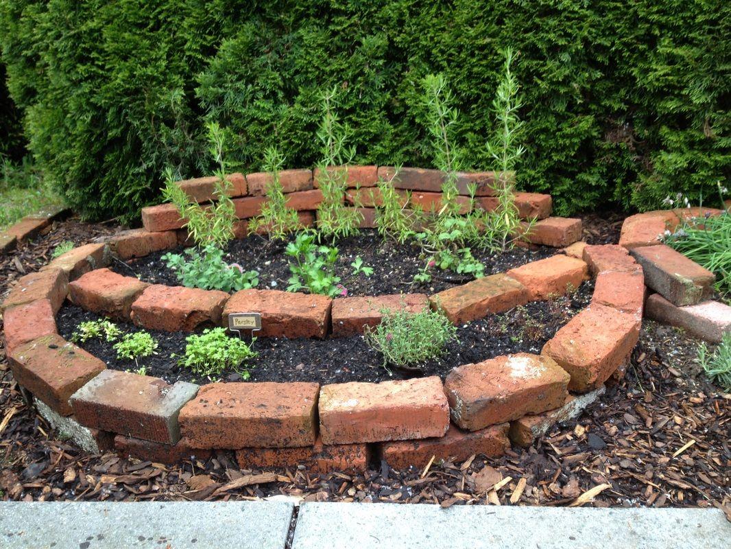 Brick Planter Brick Garden Bed Herb Garden Rosemary 400 x 300