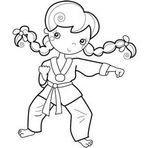 Karate Kid Young Girl Karate Kid Coloring Page Kid Karate