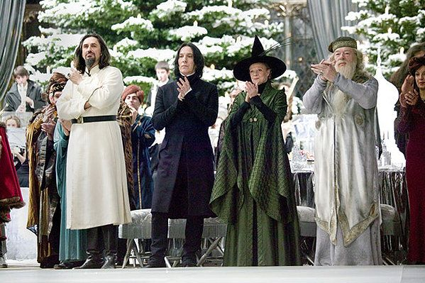 Karkaroff Snape Mcgonagall Dumbledore At The Yule Ball From Harry Potter Gof Harry Potter Quiz Harry Potter Film Weihnachtsball