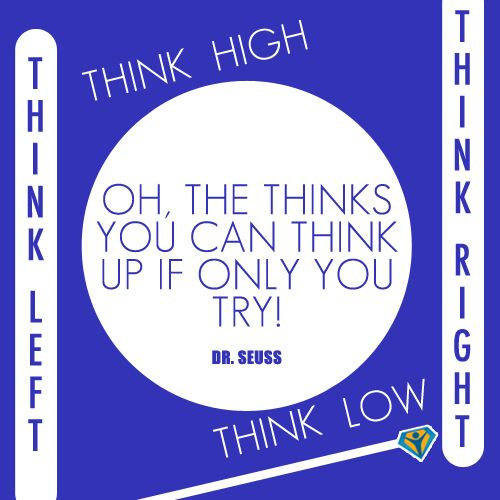 """Dr Seuss Quotes Oh The Thinks You Can Think: """"Oh, The Things You Can Think Up If Only You #try!"""""""