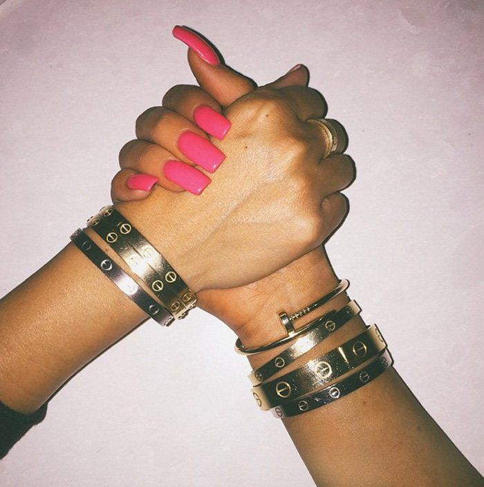 Kylie Jenner Locked In Her Cartier Love Bracelet