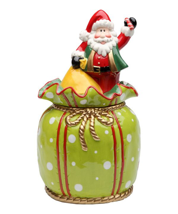 Look at this Santa Gift Bag Cookie Jar on #zulily today!