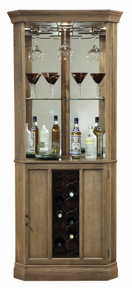 Howard Miller 690 028 Bairmont   Driftwood Finished Corner Wine U0026 Liquor  Cabinet #HowardMiller #Transitional