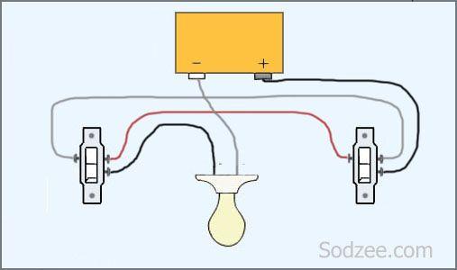12717c1e9bfb139f4ada1fad17e89f74  Way Switch Wiring Diagram Variations on