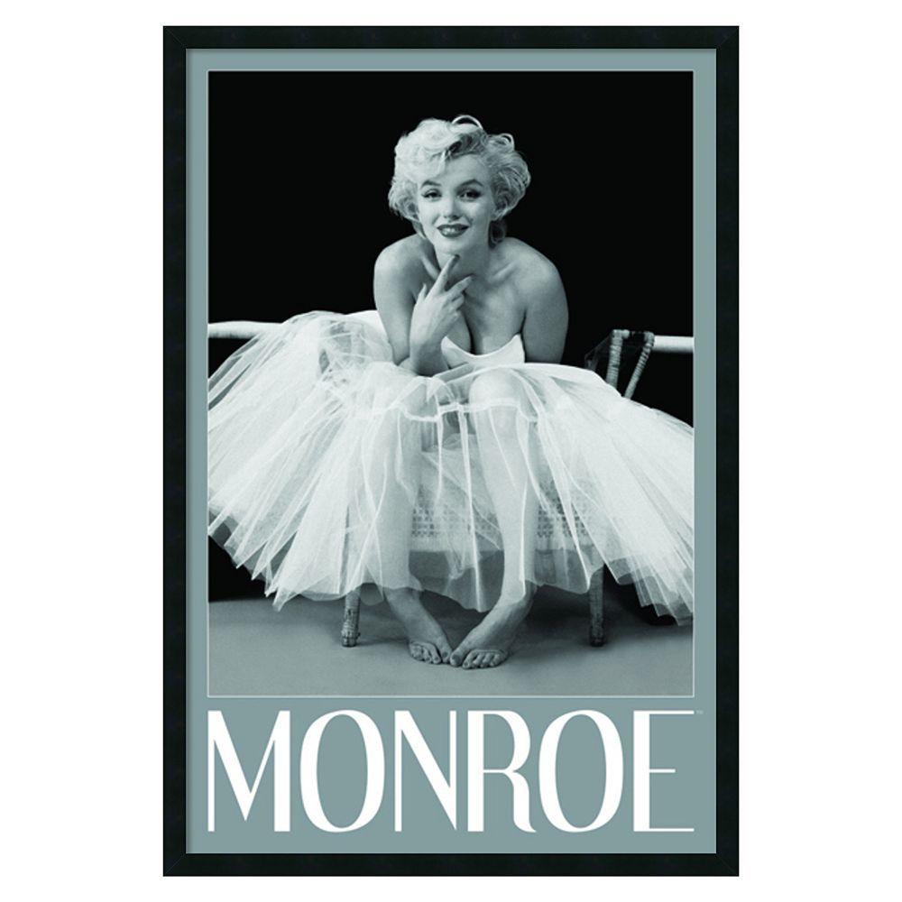 Marilyn monroe ballerina framed wall art black