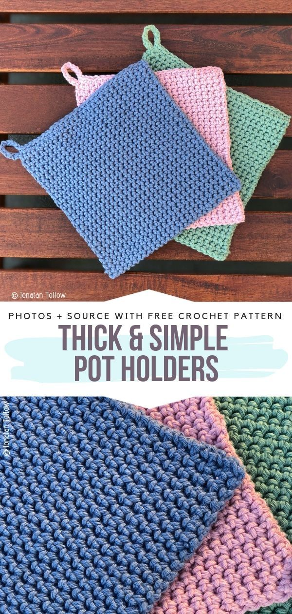 Pastel Crocheted Dishcloths Free Patterns