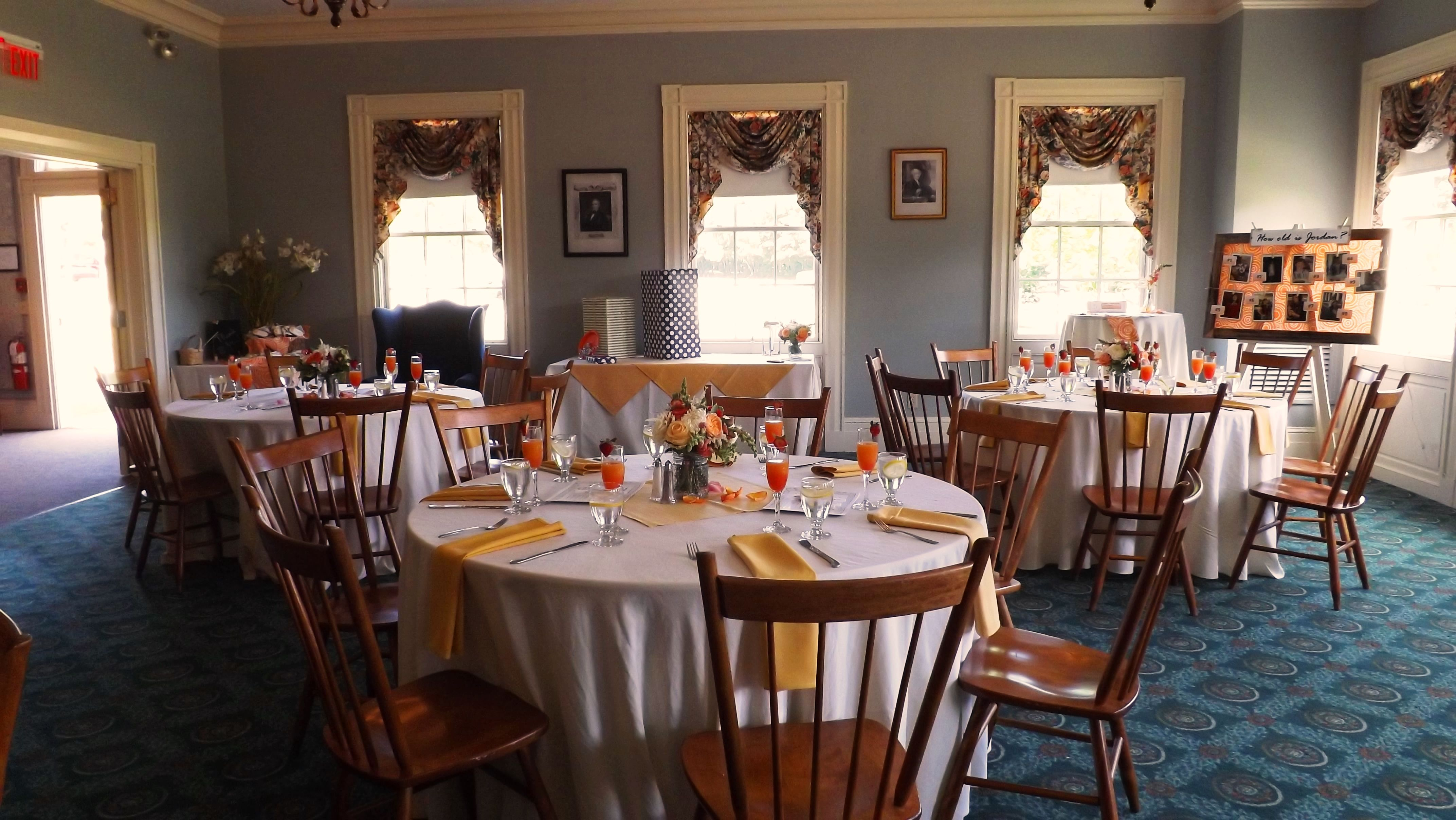 Old Sturbridge Village Wedding And Baby Showers Shower In The Grecian Parlor Yellow White Floral Tablescape Sturbridge Village Sturbridge Village